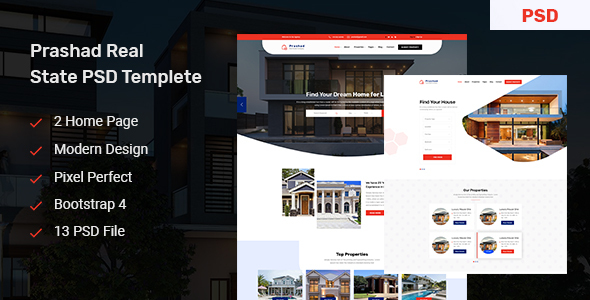 Prashad - Real Estate PSD Template