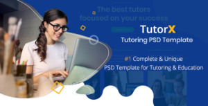 TutorX | Tutoring PSD Template