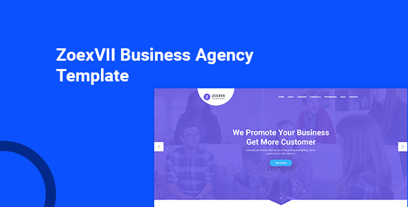 ZoexVII - Creative Agency PSD Template