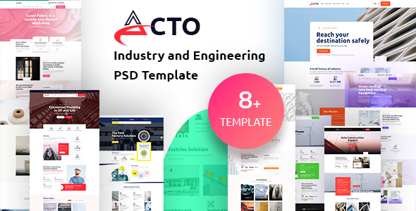 Acto - Industry and Engineering PSD Template