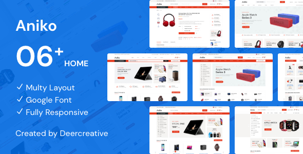 Aniko | Multipurpose Electronics eCommerce PSD