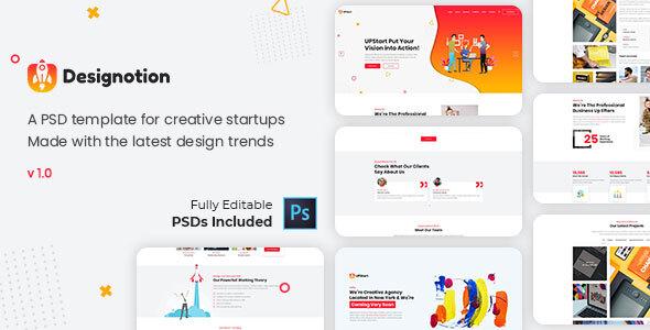 Designotion - Agency PSD Template