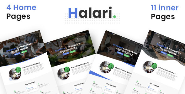 Halari - Multi Purpose Parallax Business Landing Page PSD Template