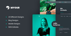 Myour - Personal CV/Resume PSD Template