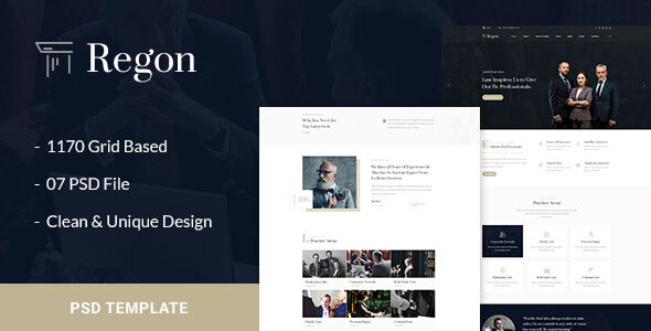 Regon - Law & Business PSD Template