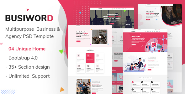 Busiword - Multipurpose Business and Agency Template