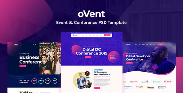 OVent - Event & Conference PSD Template