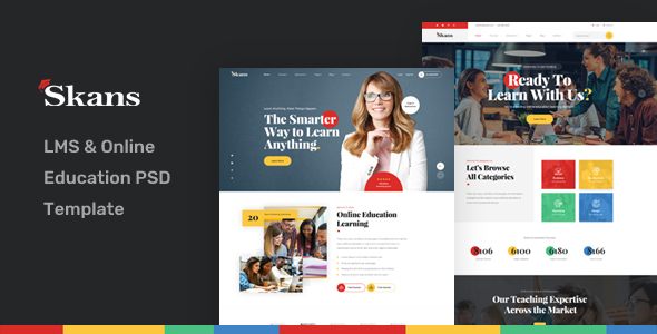 Skans - LMS & Online Education PSD Template