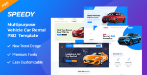 Speedy - Car Rental & Servicing PSD Template