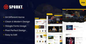 Sporkt - Club PSD Template