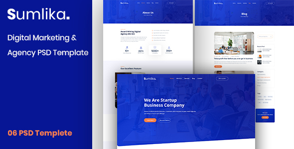 Sumlika. - Digital Marketing & Agency PSD Template