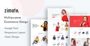 Zimate - eCommerce PSD Template