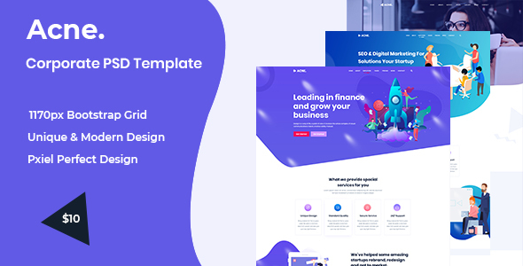 Acne - Multipurpose PSD Template