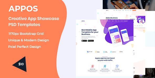 Appos-  Creative App Showcase PSD Templates