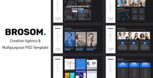 Brosom - Agency PSD Template