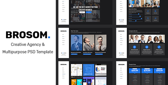 Brosom - Agency PSD Template