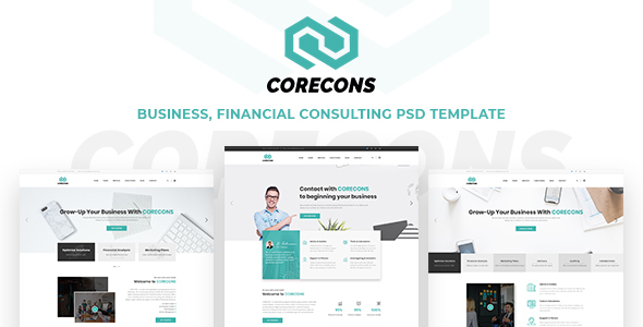 Corecons - Consulting Finance PSD Templates