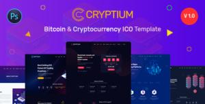 Cryptium - Bitcoin & ICO Landing Page PSD Template