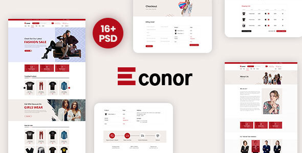 Econor – Ecommerce PSD Template