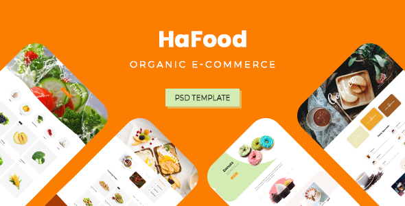 HaFood - Organic E-commerce PSD Template