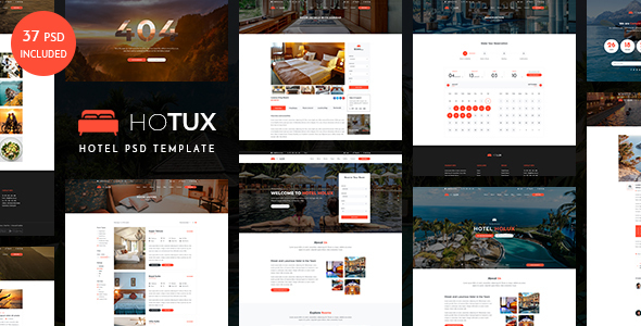 Hotux – Hotel PSD Template