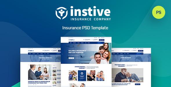 Instive | Insurance PSD Template
