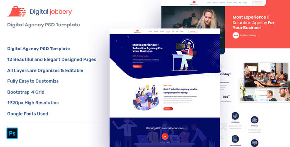 Jobbery - Digital Business PSD Template