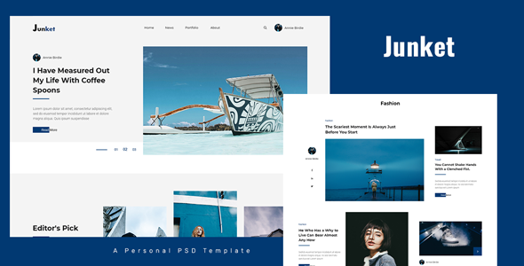 Junket - Personal Blog PSD Template