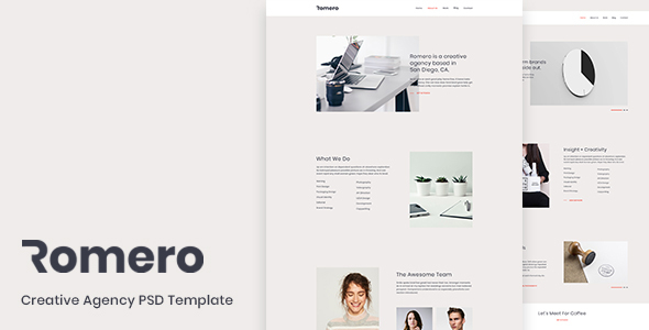 Romero - Creative Agency PSD Template