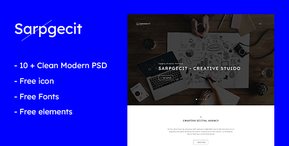 Sarpgecit - Creative Agency PSD Template