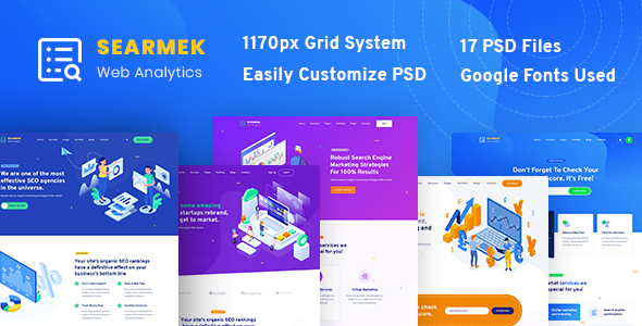 Searmek - SEO and Marketing PSD Template