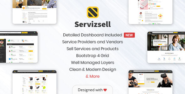 Servizsell - Service Finder and Vendors Directory Template