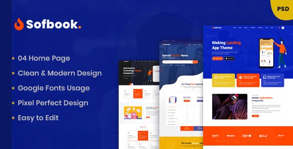 Softbook - Multipurpose Business PSD Template