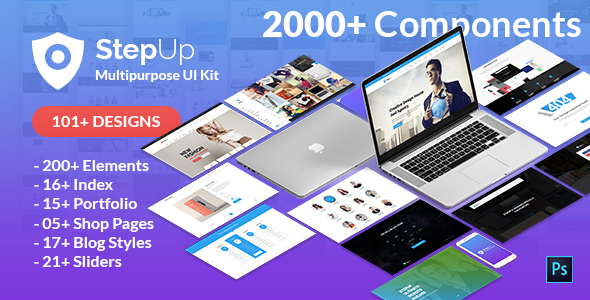 StepUp Multipurpose All in One PSD Template