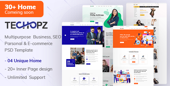 Techopz - Multipurpose PSD Template