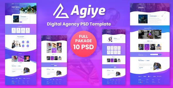 Agiye - Agency PSD Template