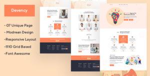 Devency - Creative Agency PSD Template
