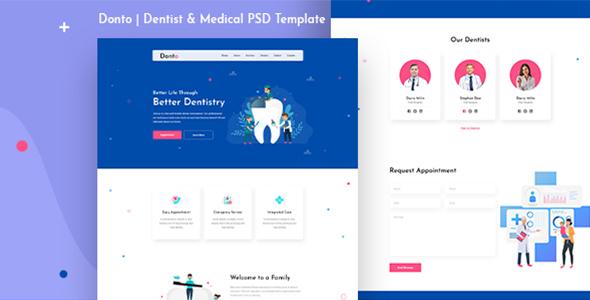 Donto I Dentist PSD Template