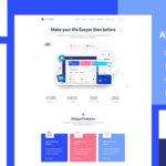 App Landing Page PSD Template - Duplonik