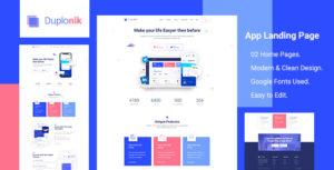 Duplonik - App Landing Page PSD Template