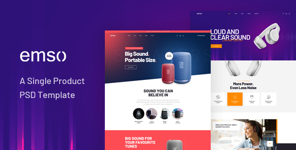 Emso - A Single Product PSD Template