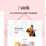 eCommerce PSD Template - Evirili