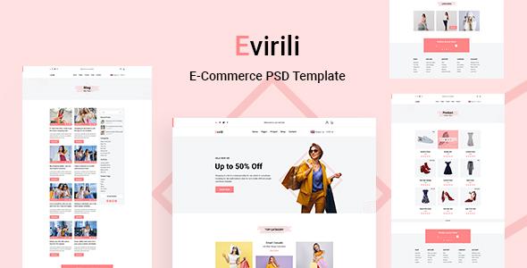 Evirili - eCommerce PSD Template