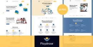 Floydrose - Modran Creative Agency PSD Template