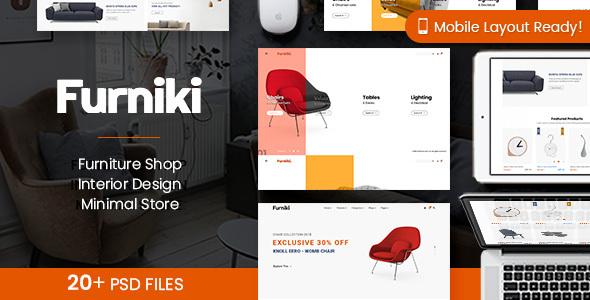 Furniki - Furniture Store & Interior Design PSD Template