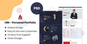 HIN - Personal Portfolio PSD Template