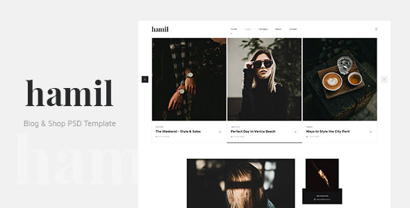 Hamil - Blog & Shop PSD Template