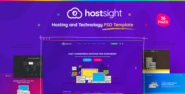 HostSite - Hosting and Technology Website PSD Template