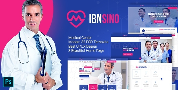 IBNSINO - Modern Medical PSD Template