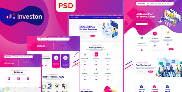 Investon | Business Agency PSD Template